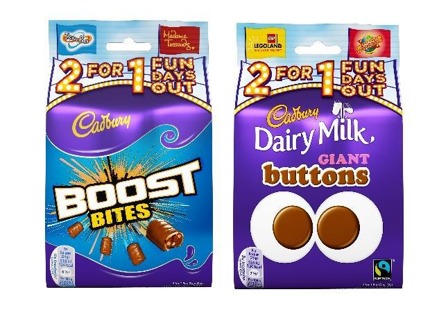 Cadbury on-pack promotion offers theme park discounts