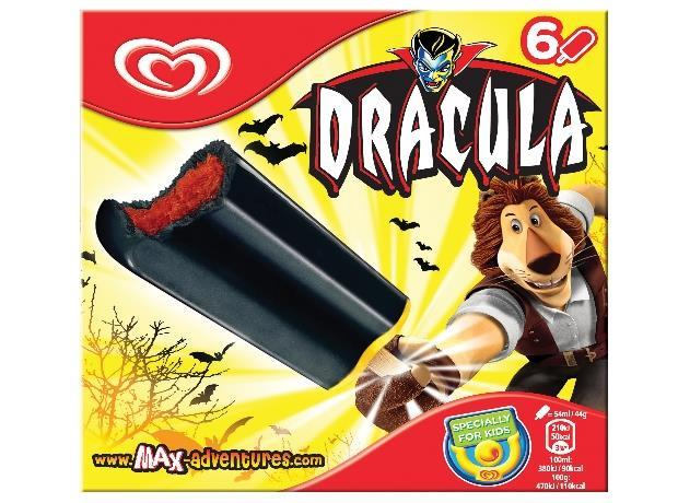 unilever gets its fangs into halloween with dracula ice lolly. Black Bedroom Furniture Sets. Home Design Ideas