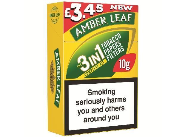 Jti rolls out 10g amber leaf combi packs for Amber leaf