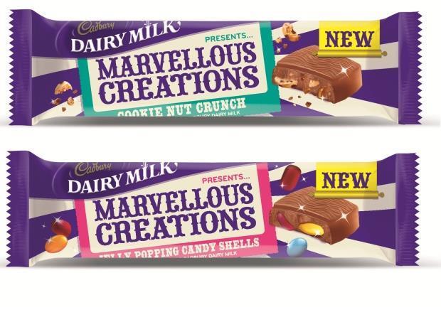 Cadburys Chocolate Bars Marvellous Creations