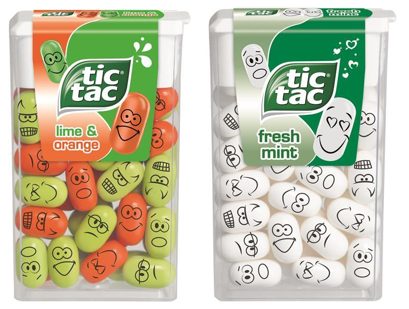 tic tac says 39 express yourself 39 with printed faces. Black Bedroom Furniture Sets. Home Design Ideas
