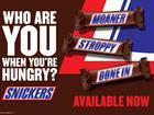 Snickers 'Who are you?' campaign
