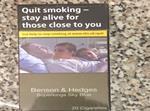First tobacco plain packs