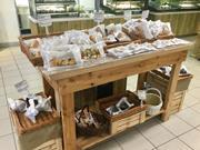 Rustic Bakery display