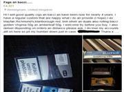 Illicit Tobacco Facebook sale