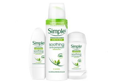 Simple Soothing Deodorant Range
