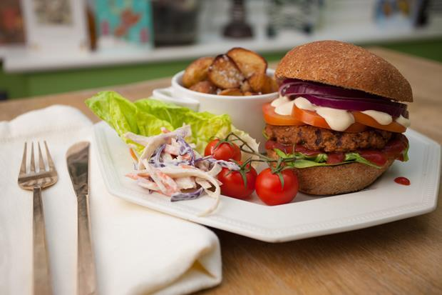 vegan jerk burger